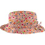 Rain hat adjustable-size 2  pink meadow - PPMC
