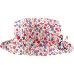 Chapeau pluie ajustable T2  tulipe bleue rose - PPMC