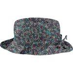 Sombrero de lluvia ajustable T3 flor verde azul - PPMC