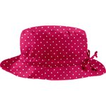 Rain hat adjustable-size T3 fuschia spots - PPMC