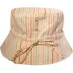Sun hat adjustable-size T2 silver pink striped - PPMC