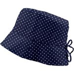 Sun hat adjustable-size 3 navy blue spots - PPMC