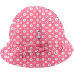 Adjustable baby sun hat small flowers pink blusher - PPMC