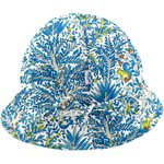 Adjustable baby sun hat blue forest - PPMC