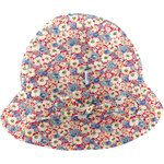 Adjustable baby sun hat carnations jeans - PPMC