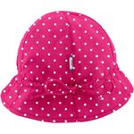 Adjustable baby sun hat fuschia spots - PPMC