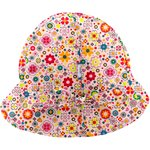 Adjustable baby sun hat pink meadow - PPMC
