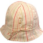 Sun Hat for baby silver pink striped - PPMC