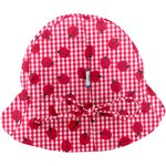 Adjustable baby sun hat ladybird gingham - PPMC