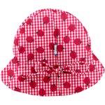 Chapeau soleil charlotte ajustable vichy coccinelle - PPMC