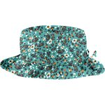 Rain hat adjustable-size T3 jade panther - PPMC