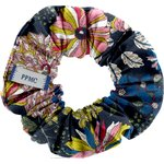 Small scrunchie pink blue dalhia - PPMC