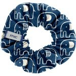 Small scrunchie blue elephant - PPMC