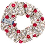 Small scrunchie red flower - PPMC