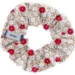 Chouchou mini fleurette rouge - PPMC