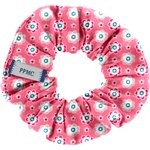 Small scrunchie small flowers pink blusher - PPMC