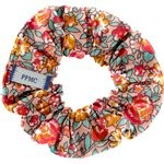 Small scrunchie peach flower - PPMC