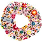 Small scrunchie pink meadow - PPMC
