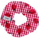 Small scrunchie ladybird gingham - PPMC