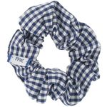 Small scrunchie navy blue gingham - PPMC