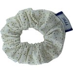 Mini Scrunchie white sequined - PPMC