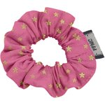 Mini Scrunchie fuchsia gold star - PPMC
