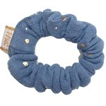 Mini Scrunchie gaze gris or - PPMC