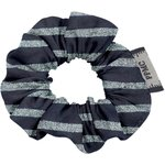Mini Scrunchie striped silver dark blue - PPMC