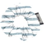 Mini Scrunchie striped blue gray glitter - PPMC