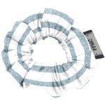 Mini Scrunchie striped blue gray glitter - PPMC
