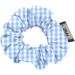 Mini Scrunchie sky blue gingham - PPMC