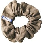 Small scrunchie gold linen - PPMC