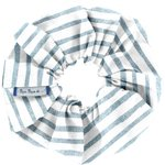 Scrunchie striped blue gray glitter - PPMC