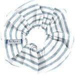 Chouchou rayé bleu blanc - PPMC