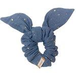 Bunny ear Scrunchie gauze gray gold - PPMC