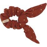 Bunny ear Scrunchie gauze terra cotta - PPMC