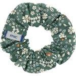 Small scrunchie fleuri kaki - PPMC
