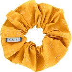 Small scrunchie gaze dentelle ocre - PPMC