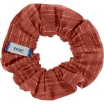 Small scrunchie lurex terracotta gauze - PPMC