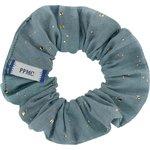 Petit Chouchou gaze pois or bleu gris - PPMC