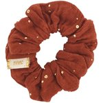 Small scrunchie gauze terra cotta - PPMC