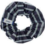 Small scrunchie striped silver dark blue - PPMC