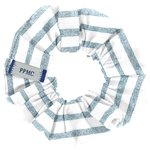 Small scrunchie striped blue gray glitter - PPMC