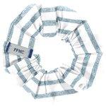 Chouchou mini rayé bleu blanc - PPMC