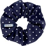 Scrunchie navy blue spots - PPMC