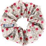 Chouchou  fleurette rouge - PPMC