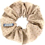 Scrunchie pink coppers spots - PPMC