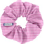 Scrunchie fuschia gingham - PPMC