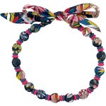 Chlidren necklace pink blue dalhia - PPMC