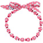 Chlidren necklace small flowers pink blusher - PPMC